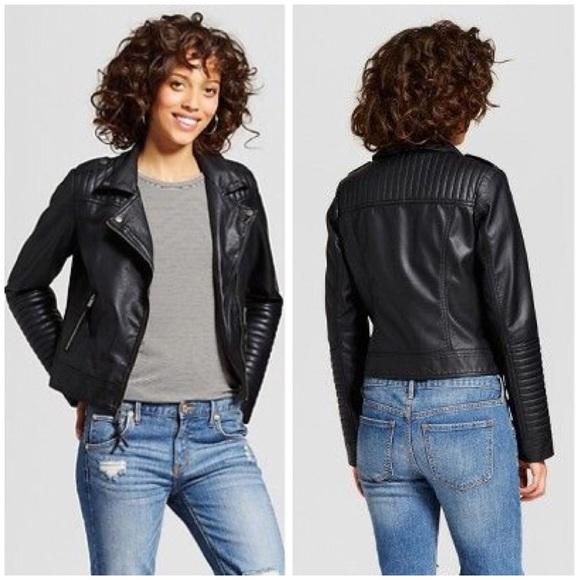 9cdb5284b6c82 Women's Faux Leather Moto Jacket Xhilaration Black.  M_5bf8e246819e90ddff0f4913